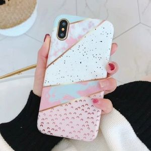 NEW iPhone 7+/8+ Marble Glitter Case
